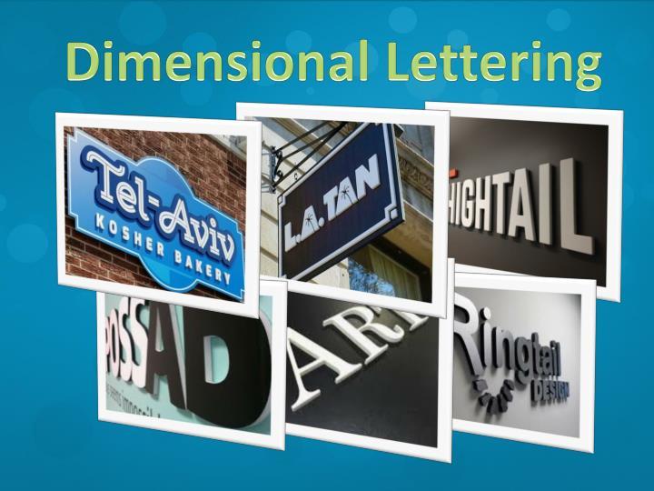 Dimensional Lettering