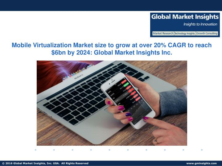 Mobile Virtualization Market size to grow at over 20% CAGR to reach $6bn by 2024: Global Market Insights Inc.