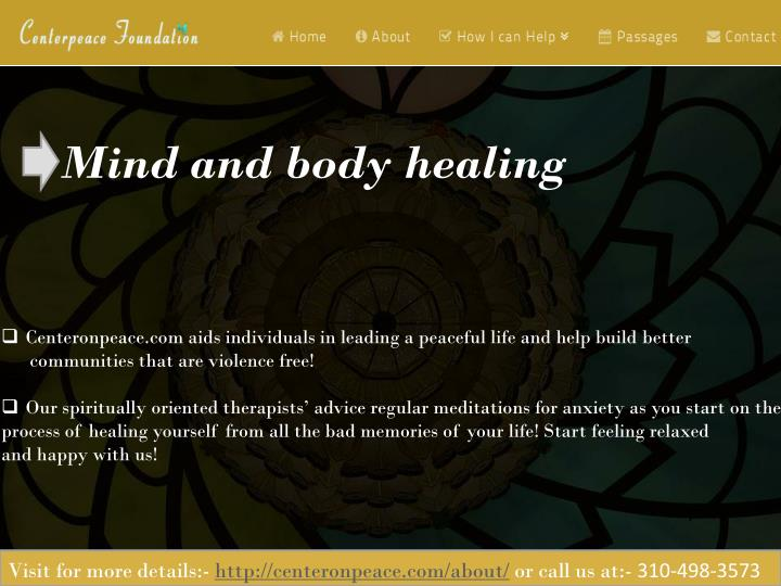 Mind and body healing