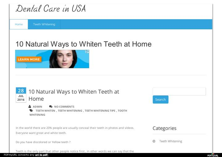 Dental Care in USA
