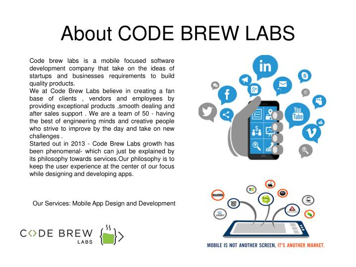 About CODE BREW LABS