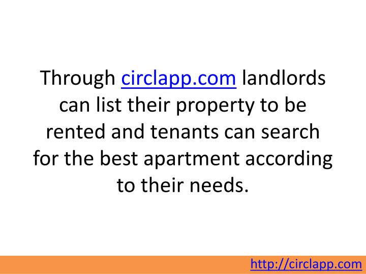 Through circlapp.com landlords