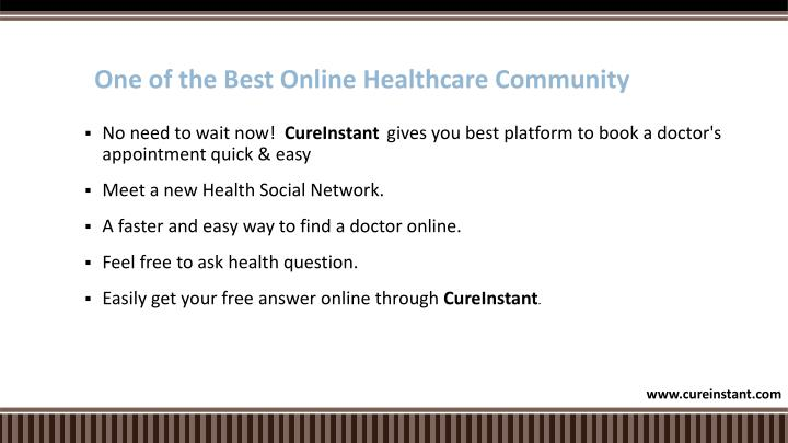One of the best online healthcare community