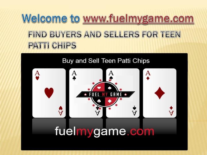 Find buyers and sellers for teen p atti chips