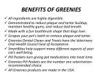benefits of greenies