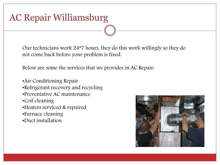 AC Repair Williamsburg