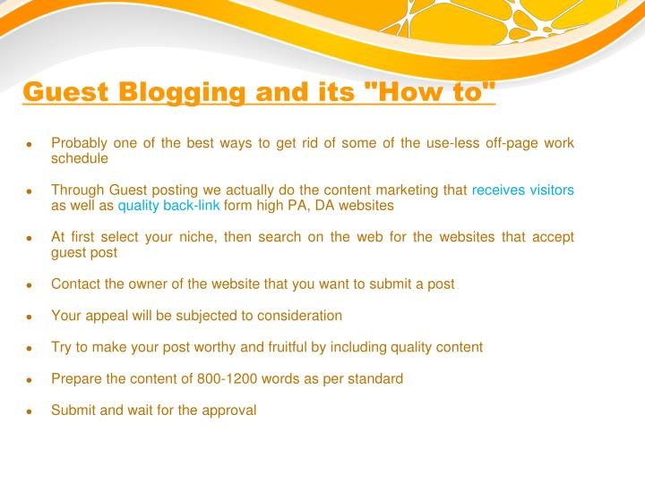 "Guest Blogging and its ""How to"""