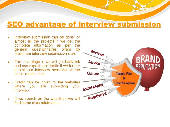 SEO advantage of Interview submission