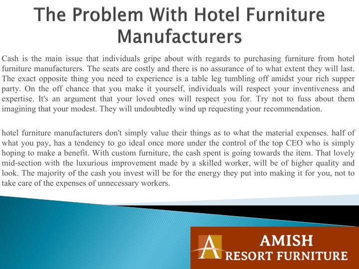 The problem with hotel furniture manufacturers1