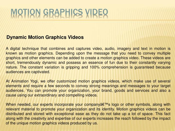 Motion Graphics Video