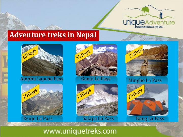 Adventure treks in Nepal