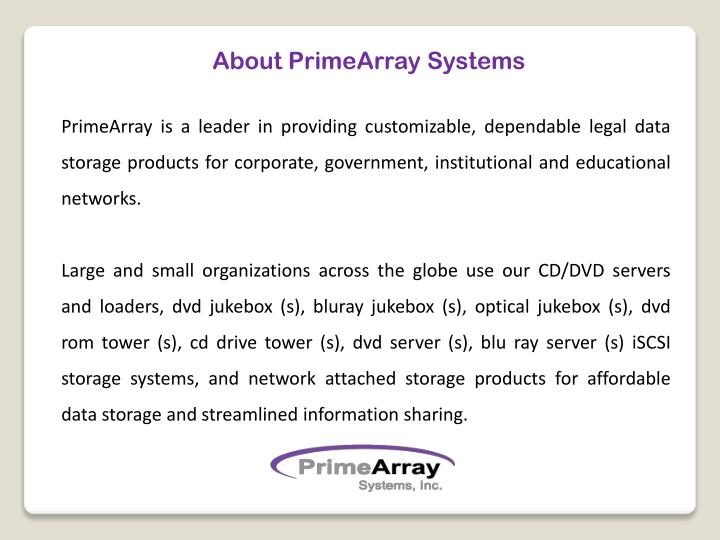 About PrimeArray Systems