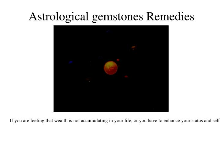 Astrological gemstones Remedies