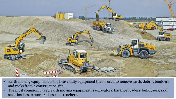 Earth moving equipment is the heavy duty equipment that is used to remove earth, debris, boulders an...