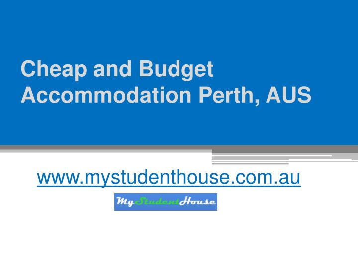 Cheap and budget accommodation perth aus