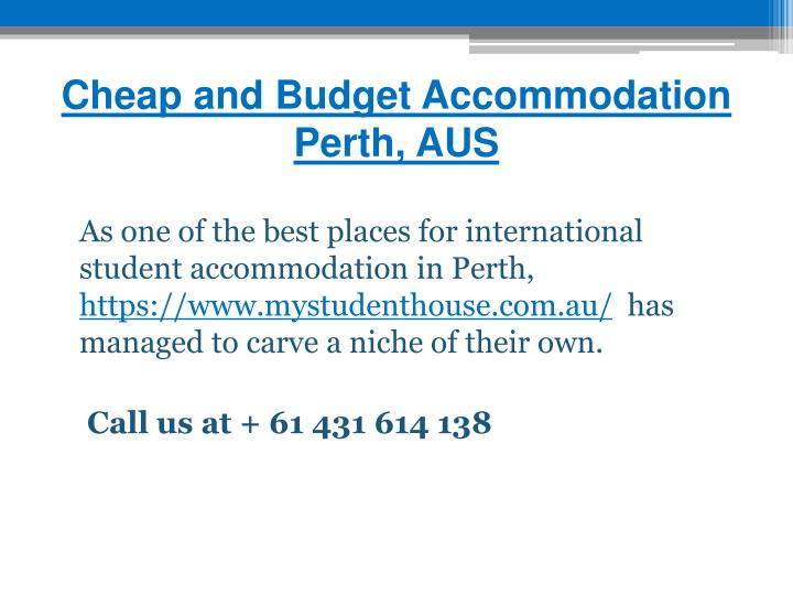 Cheap and Budget Accommodation Perth, AUS