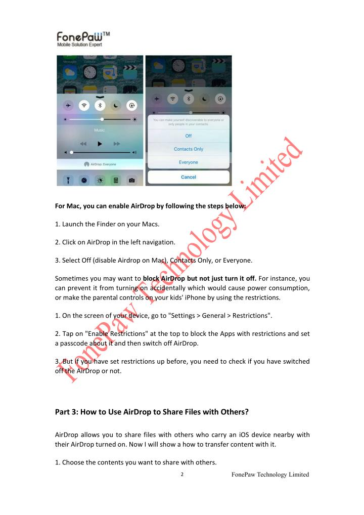 For Mac, you can enable AirDrop by following the steps below: