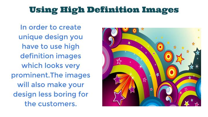 Using High Definition Images