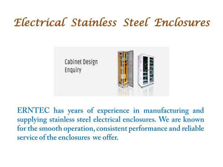 Electrical  Stainless  Steel  Enclosures