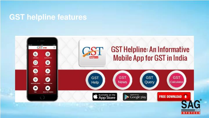 GST helpline features