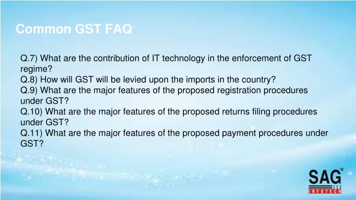 Common GST FAQ