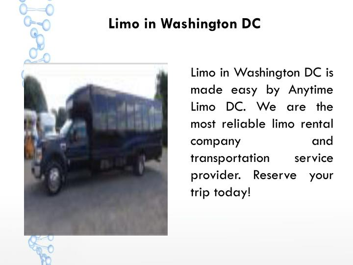 Limo in Washington DC