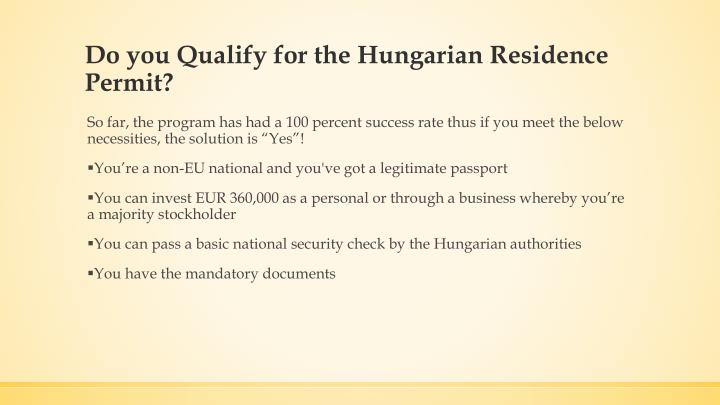 Do you Qualify for the Hungarian Residence Permit?