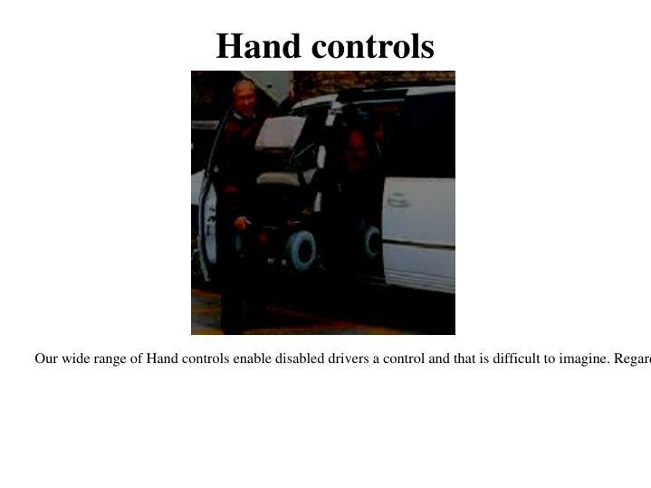 Hand controls