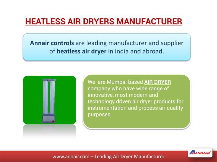 HEATLESS AIR DRYERS MANUFACTURER