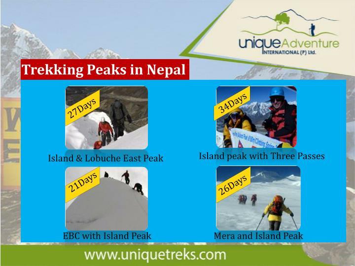 Trekking Peaks in Nepal