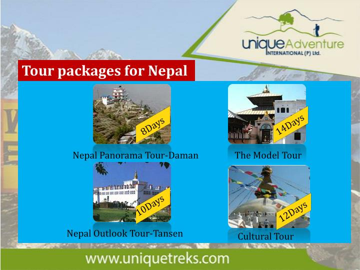 Tour packages for Nepal