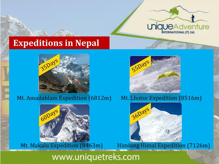 Expeditions in Nepal