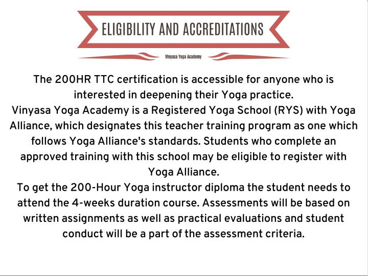 ELIGIBILITY AND ACCREDITATIONS
