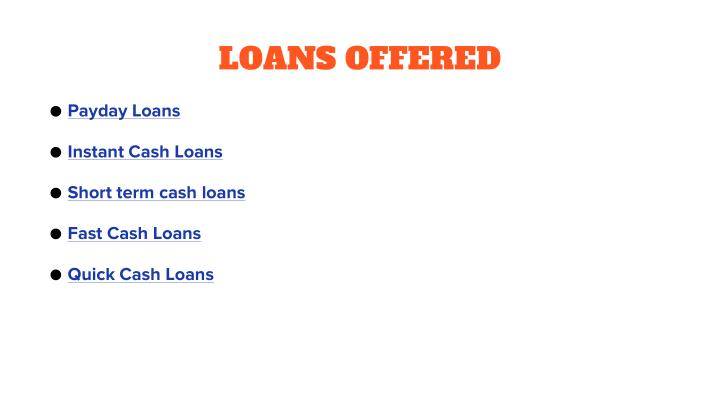 LOANS OFFERED