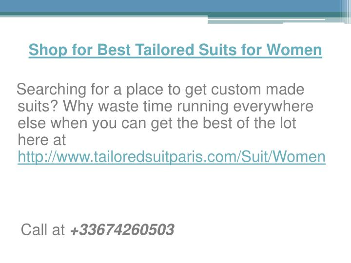 Shop for Best Tailored Suits for Women