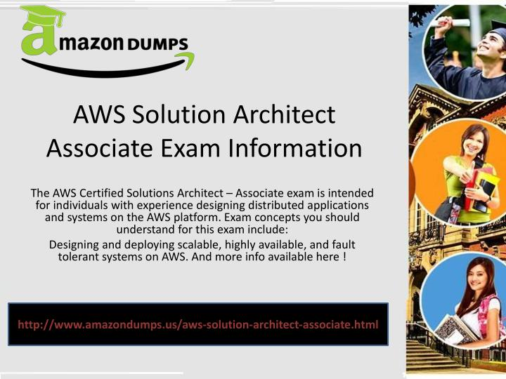 Aws solution architect associate exam i nformation