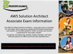 aws solution architect associate exam i nformation