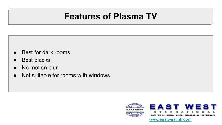 Features of Plasma TV