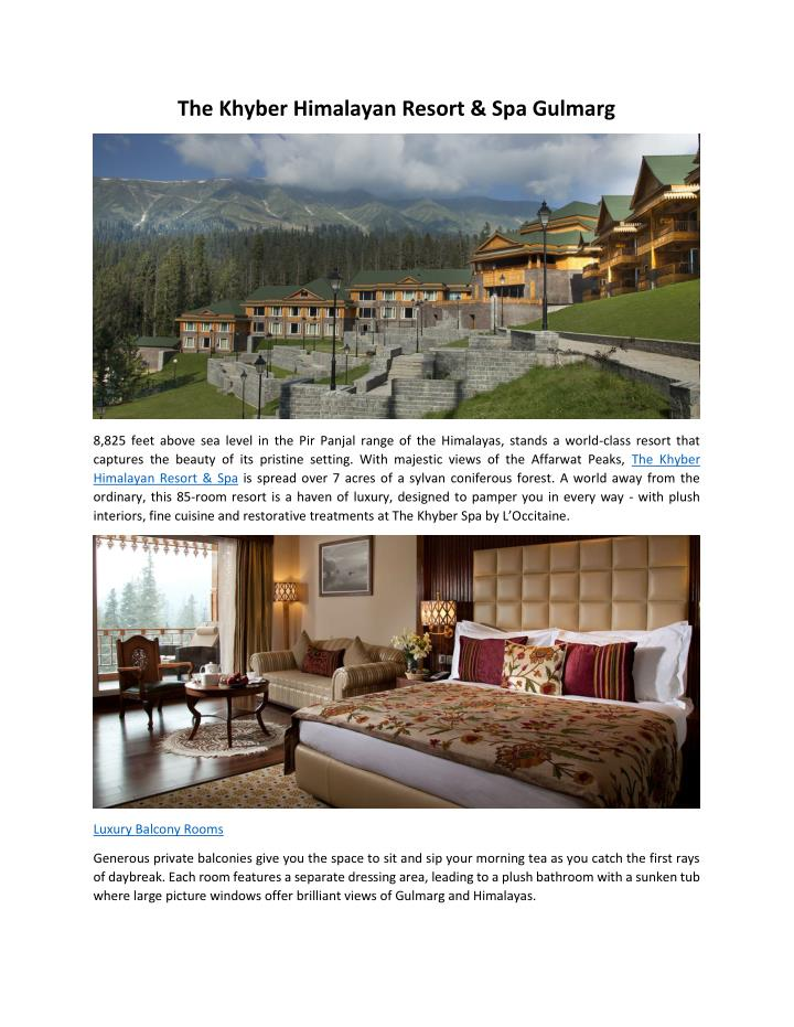 The Khyber Himalayan Resort & Spa Gulmarg