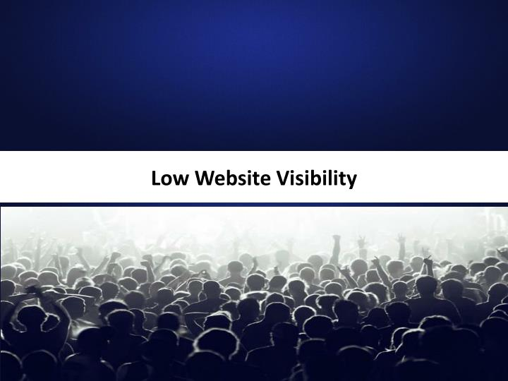 Low Website Visibility