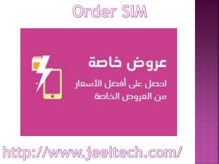Order SIM