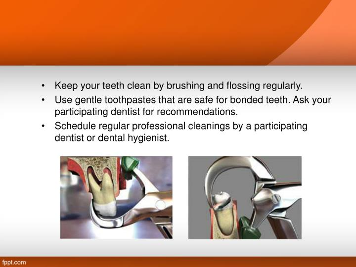 Keep your teeth clean by brushing and flossing regularly.