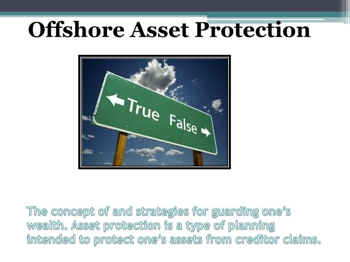 The concept of and strategies for guarding one's wealth. Asset protection is a type of planning in...
