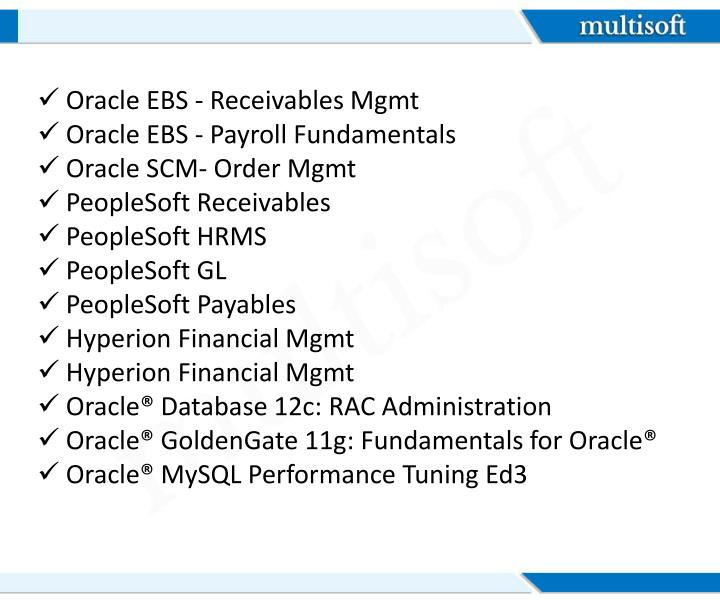 Oracle EBS - Receivables
