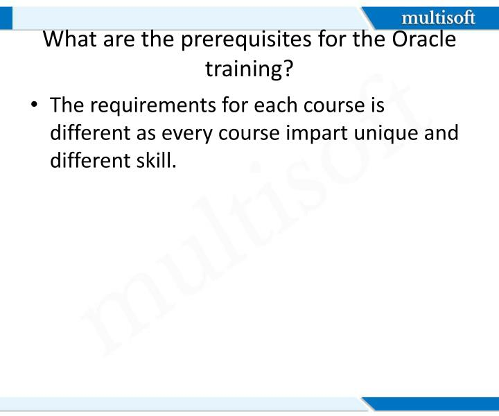 What are the prerequisites for the