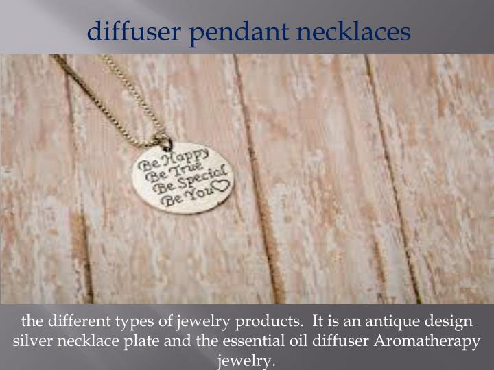 diffuser pendant necklaces