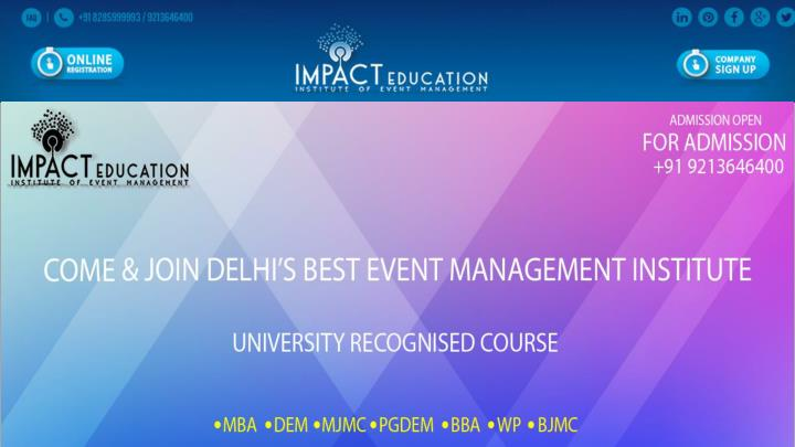Event management course in delhi 7441104