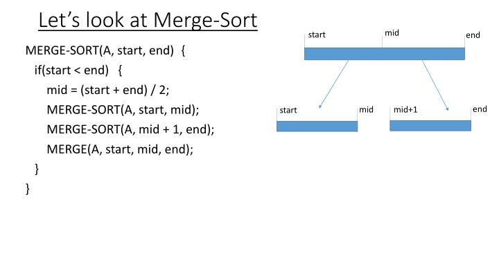 Let's look at Merge-Sort
