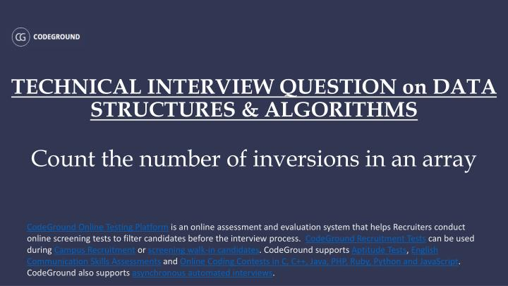 TECHNICAL INTERVIEW QUESTION on DATA STRUCTURES & ALGORITHMS