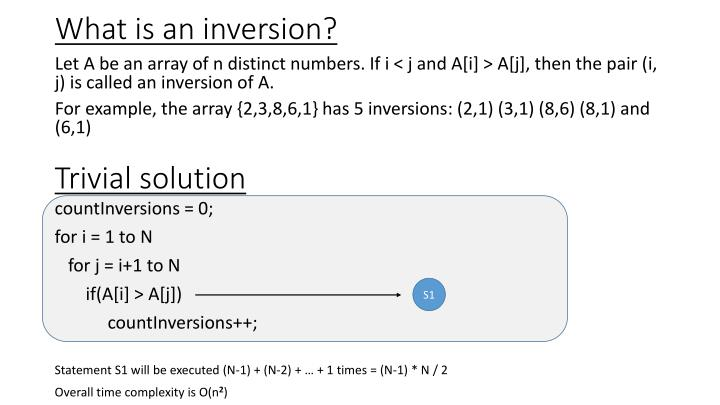 What is an inversion?